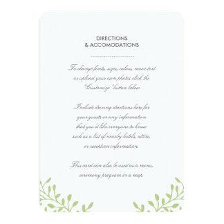 Tarjeta del parte movible del boda del jardín invitación 11,4 x 15,8 cm