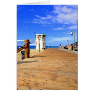 Tarjeta del paseo marítimo de la playa