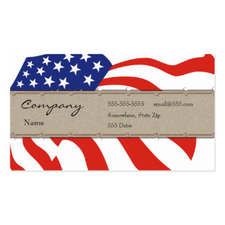 Tarjeta del perfil - bandera decorativa de los tarjetas de visita