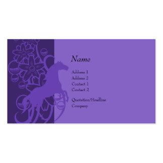 Tarjeta del perfil - caballo decorativo tarjeta de visita