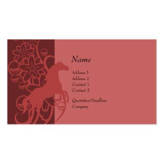 Tarjeta del perfil - caballo decorativo plantillas de tarjetas personales