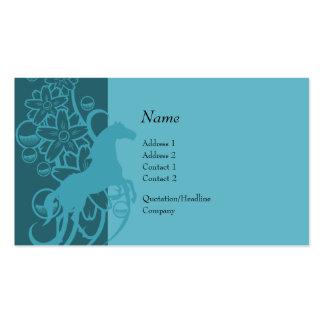 Tarjeta del perfil - caballo decorativo tarjetas de negocios