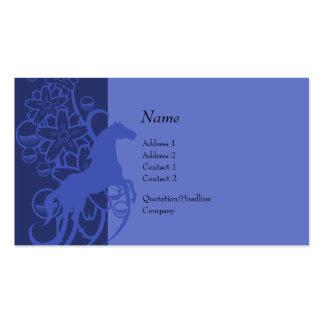 Tarjeta del perfil - caballo decorativo plantillas de tarjeta de negocio