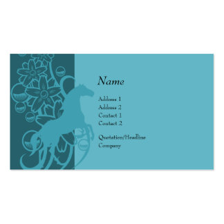 Tarjeta del perfil - caballo decorativo tarjetas de visita