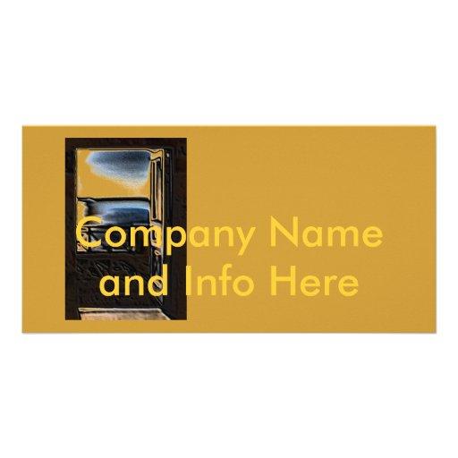 Tarjeta del perfil de compañía tarjetas fotográficas personalizadas