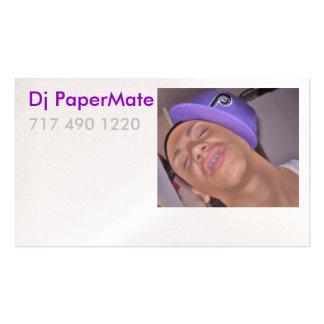 Tarjeta del perfil de DJ PaperMate Tarjetas De Visita