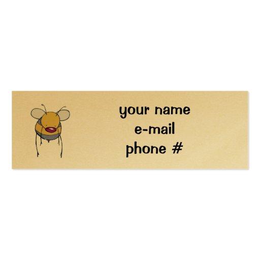 tarjeta del perfil de la abeja tarjetas de visita