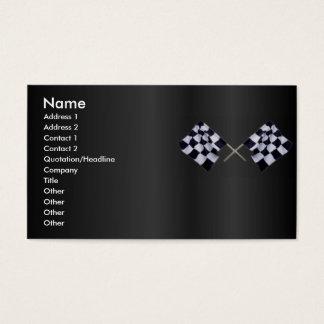 Tarjeta del perfil de la bandera de la raza