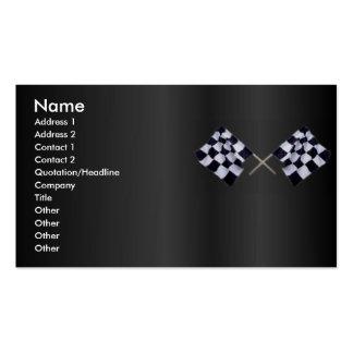Tarjeta del perfil de la bandera de la raza tarjetas de visita