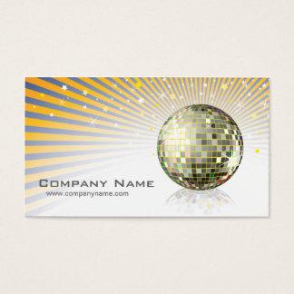 Tarjeta del perfil de la bola de discoteca