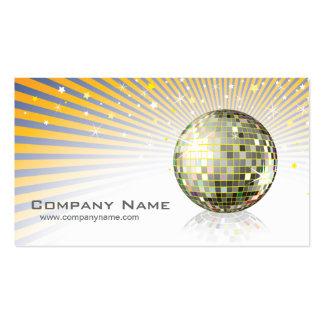 Tarjeta del perfil de la bola de discoteca tarjetas de visita
