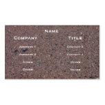 Tarjeta del perfil de la imagen del asfalto tarjetas de visita