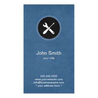 Tarjeta del perfil de la manitas/del fontanero de tarjeta personal