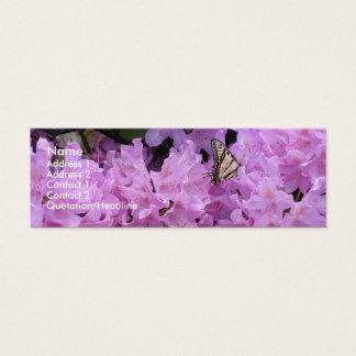 Tarjeta del perfil de la mariposa