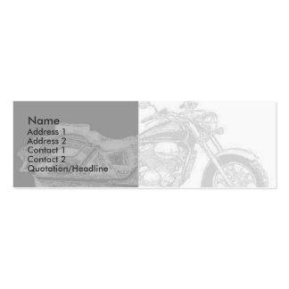Tarjeta del perfil de la moto plantillas de tarjeta de negocio