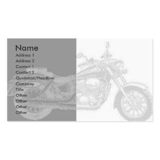 Tarjeta del perfil de la moto tarjetas de visita