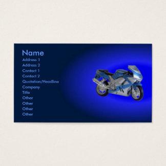Tarjeta del perfil de la motocicleta