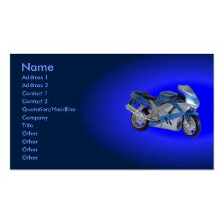 Tarjeta del perfil de la motocicleta tarjetas de visita