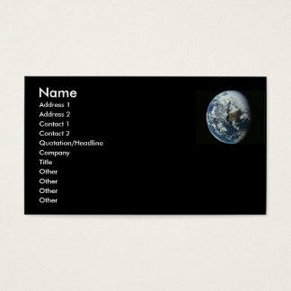 Tarjeta del perfil de la tierra del planeta