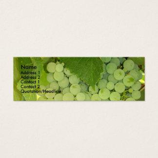 Tarjeta del perfil de las uvas