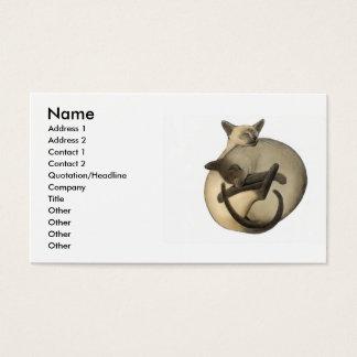 Tarjeta del perfil de los gatos de Yin Yang