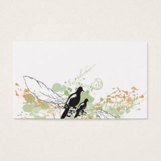 Tarjeta del perfil de los pájaros