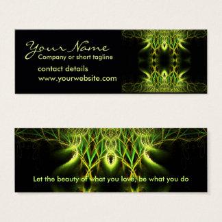 Tarjeta del perfil de Lotus del fractal
