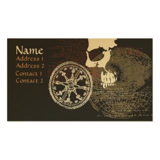 Tarjeta del perfil/de visita del mapa del pirata tarjetas de visita