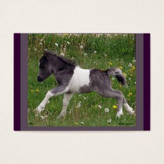 Tarjeta del perfil del caballo del bebé