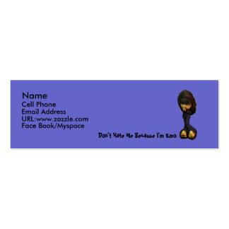 Tarjeta del perfil del chica de Lil Emo Tarjeta De Visita