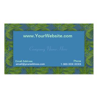 Tarjeta del perfil del damasco del terciopelo del tarjetas de visita