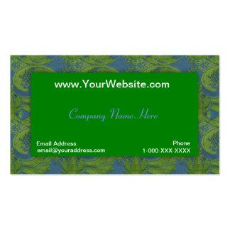Tarjeta del perfil del damasco del terciopelo del tarjetas de negocios