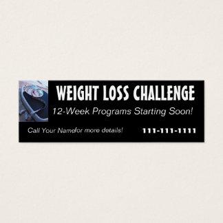 Tarjeta del perfil del desafío de la pérdida de