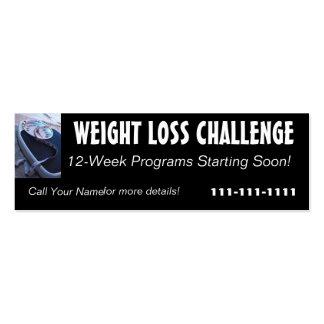Tarjeta del perfil del desafío de la pérdida de pe plantillas de tarjetas personales