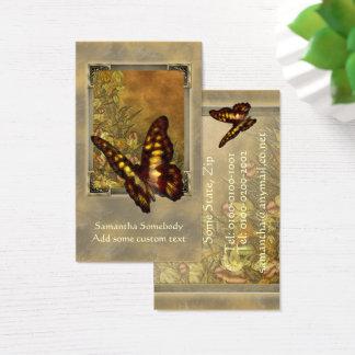 Tarjeta del perfil del ejemplo de la mariposa del