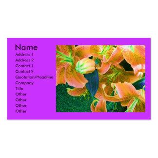 """Tarjeta del perfil del """"florista"""" tarjetas de visita"""