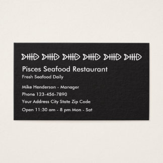 Tarjeta del perfil del negocio de restaurante de