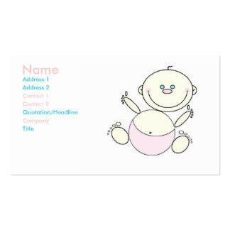 Tarjeta del perfil del negocio del cuidado de tarjetas de visita