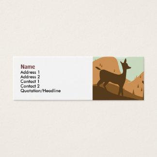 Tarjeta del perfil del paisaje del otoño