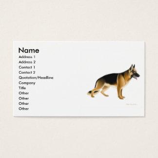 Tarjeta del perfil del perro de pastor alemán