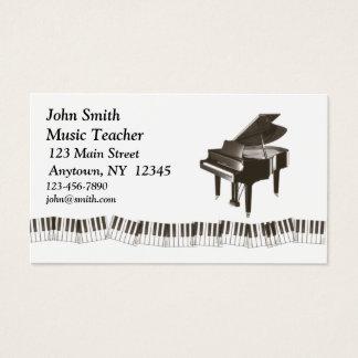 Tarjeta del perfil del piano