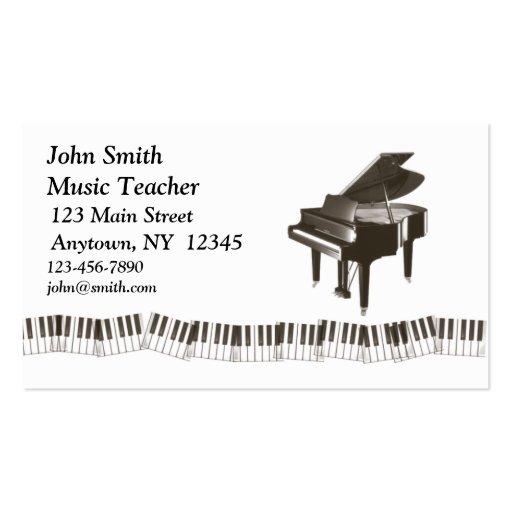 Tarjeta del perfil del piano plantillas de tarjetas personales