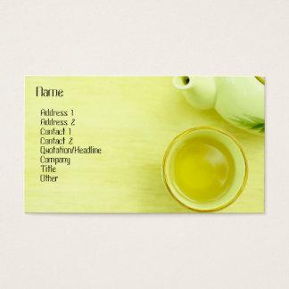 Tarjeta del perfil del té