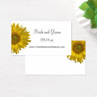 Tarjeta del perfil del Web site del boda del