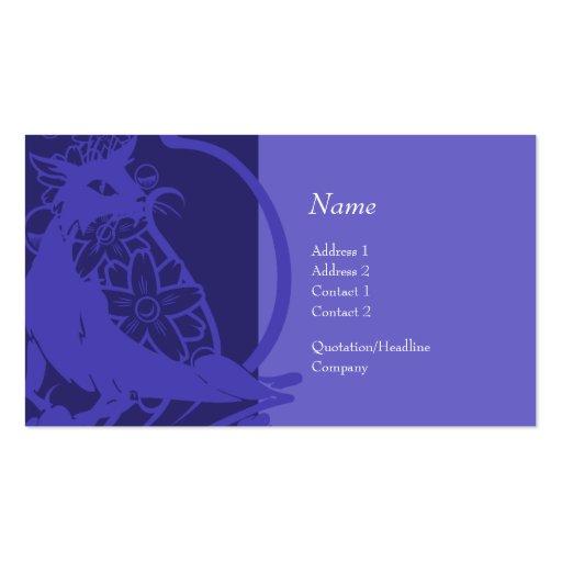 Tarjeta del perfil - gato decorativo tarjeta de negocio