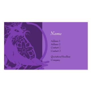Tarjeta del perfil - gato decorativo tarjetas de visita