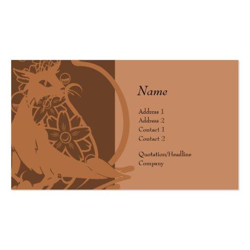 Tarjeta del perfil - gato decorativo plantillas de tarjetas personales