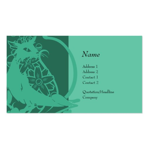 Tarjeta del perfil - gato decorativo plantilla de tarjeta de negocio