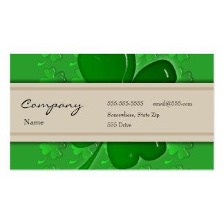 Tarjeta del perfil - trébol decorativo tarjetas de visita