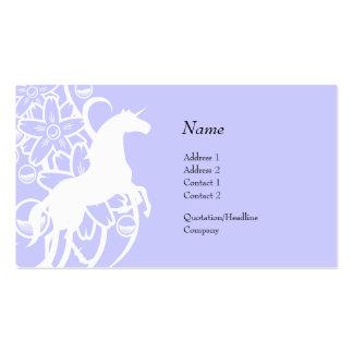 Tarjeta del perfil - unicornio decorativo tarjetas personales